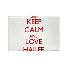 Keep Calm and Love Hailee Magnets