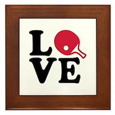 Table tennis love Framed Tile