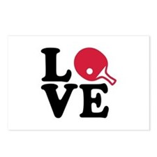 Table tennis love Postcards (Package of 8)