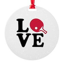 Table tennis love Ornament