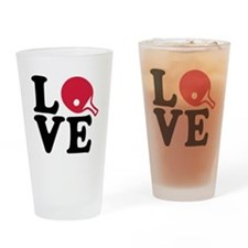 Table tennis love Drinking Glass