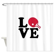 Table tennis love Shower Curtain