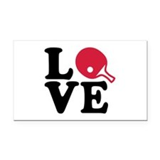 Table tennis love Rectangle Car Magnet