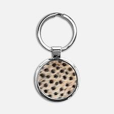 Wild Animal Pattern Round Keychain