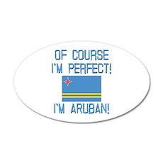 Perfect Aruban 35x21 Oval Wall Decal