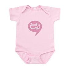 Small is beautiful pink speech bubble Body Suit