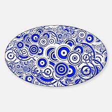 Blue Circle Art Sticker (Oval)