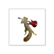 Squirrel Red Guitar Sticker