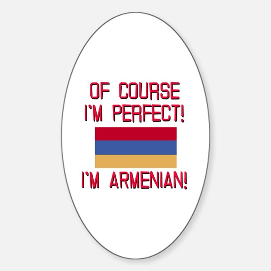 Perfect Armenian Sticker (Oval)