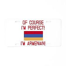 Perfect Armenian Aluminum License Plate