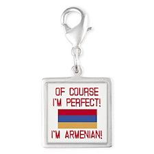 Perfect Armenian Silver Square Charm