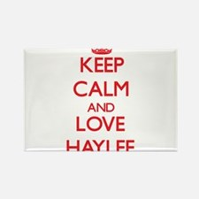 Keep Calm and Love Haylee Magnets