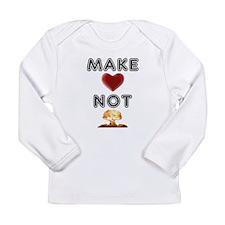 Make Love Not War Graphic Tee Long Sleeve T-Shirt