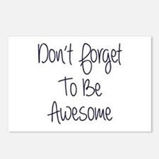 Don't Forget To Be Awesome Postcards (Package of 8