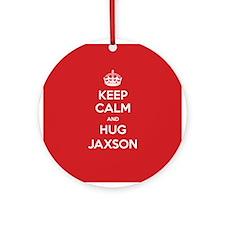 Hug Jaxson Ornament (Round)