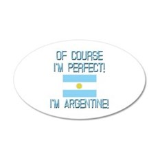 Perfect Argentine 20x12 Oval Wall Decal