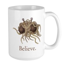Flying Spaghetti Monster Believe Mugs
