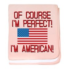 Perfect American baby blanket