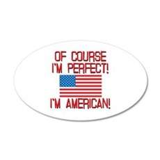 Perfect American 20x12 Oval Wall Decal