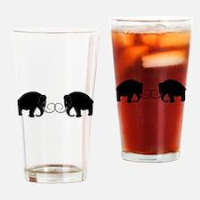 Mammoths Embrace - Drinking Glass