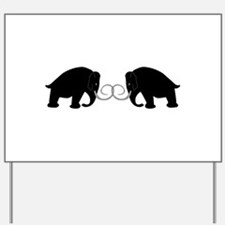 Mammoths Embrace - Yard Sign