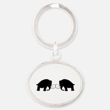 Mammoths Embrace - Oval Keychain