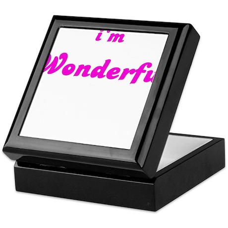 I AM WONDERFUL Keepsake Box