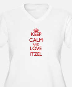 Keep Calm and Love Itzel Plus Size T-Shirt