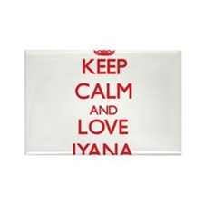 Keep Calm and Love Iyana Magnets