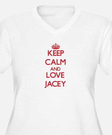 Keep Calm and Love Jacey Plus Size T-Shirt