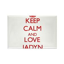 Keep Calm and Love Jadyn Magnets