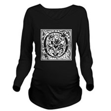 Decorative Letter O Long Sleeve Maternity T-Shirt