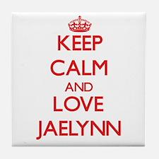 Keep Calm and Love Jaelynn Tile Coaster