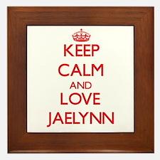 Keep Calm and Love Jaelynn Framed Tile