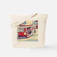 San Francisco blue red Tote Bag