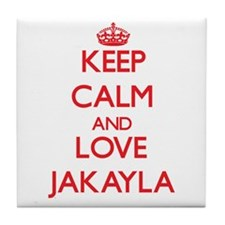 Keep Calm and Love Jakayla Tile Coaster