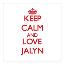"Keep Calm and Love Jalyn Square Car Magnet 3"" x 3"""