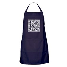Decorative Letter K Apron (dark)