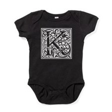 Decorative Letter K Baby Bodysuit