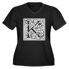 Decorative Letter K Plus Size T-Shirt