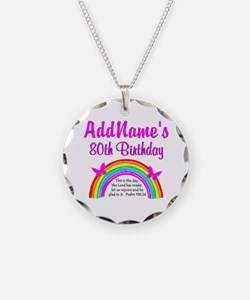 80TH RAINBOW Necklace