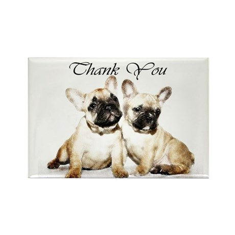 Thank You French Bulldogs Magnets By Ritmoboxers