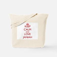 Keep Calm and Love Janiah Tote Bag