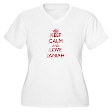 Keep Calm and Love Janiah Plus Size T-Shirt