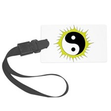 Yin Yang in front of the Sun - Luggage Tag