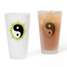 Yin Yang in front of the Sun - Drinking Glass