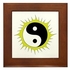 Yin Yang in front of the Sun - Framed Tile
