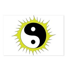 Yin Yang in front of the Postcards (Package of 8)