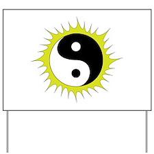 Yin Yang in front of the Sun - Yard Sign