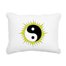 Yin Yang in front of the Rectangular Canvas Pillow